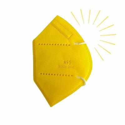 Tapabocas T N95 amarillo vibrante tapabocas sonata
